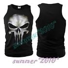 The Punisher Skull Ghost Slim Fit Vest Shirt T-shirt Cosplay Tops Sports S-2XL