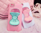 Cute Lovely Bowknot Bow Silicone Kick Stand Holder Case Cover For iphone Samsung