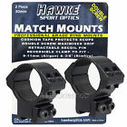 Hawke Match Rifle Scope Mounts 30mm 2pce - Choose Height - Air Gun or Rimfire