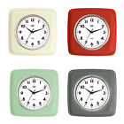 Trevi Retro Wall Clock Silent Ticking  4 colours Available FREE DELIVERY