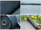 1m and 2m wide GREY Weed control fabric ground cover membrane landscape mulch
