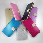 For LG Bling Diamond Card Wallet Leather Flip Case Cover with card holder
