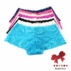 Sexy Lace Floral Fully Lacey Boyshorts Panites S/M/L/XL/XXL/XXXL + Hair Holder