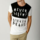 New Men Silent Theory Printed ALWYAS SILENT  s Style The Casual m T shirt