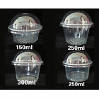 100 ct. Jello Shot Glasses Souffle Cake Cups Plastic w/ Dome Lid Option +Hook R