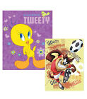 Looney Tunes Tweety/Taz Plush Throw Blanket Twin/Full Size 60x80