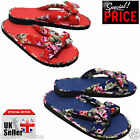 Ladies Womens Pretty Floral Flip Flops Summer Beach Flower Sandals Casual shoes