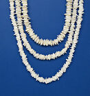 Surfer SUP White Square Cut Puka Shell Beach Necklace 18, 20 or 24 inch #7065