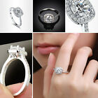 2015 Hot Selling 925 Silver Wedding Ring Engagement Ring Crystal Women Size 5-9