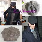 Men's Cabbie Newsboy Cap Ivy Golf Driving Summer Sun Flat Octagonal Hats CapsZ