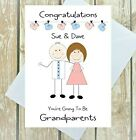PERSONALISED GRANDPARENTS TO BE CARD GRANNY TO BE GRANDAD TO BE CONGRATULATIONS