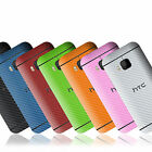 Textured Carbon Fibre Skin Sticker For HTC ONE (M9) Decal Wrap Cover Case