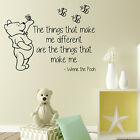 WINNIE THE POOH WALL QUOTE STICKER BABY GIFT WORDS VINYL ART TRANSFER ART