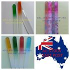 2 Way Glass Nail Files Pouch 2 Sizes Natural Acrylic Gel Manicure Pedicure Set