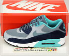 Nike Air Max 90 Essential Blue Graphite Navy Wolf Grey 537384-408 US 8~12