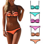 Womens Bandage Tassel Bikini Push-up Swimsuit Bathing Suit Swimwear Bra Bottom