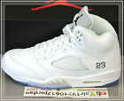 2015 Nike Air Jordan 5 Retro White Metallic Silver Black 136027-130 US 9~12 AJ5