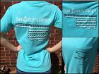 Oklahoma State T-Shirt Lagoon Blue Southern Drift Womens Tee Short Sleeve New!