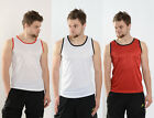 MENS SLEEVLESS VEST TANK TOP CASUAL FITNESS BREATHABLE MUSCLE GYM SIZE XS-XXL