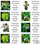 40 x Personalised Ben 10/ten alien force labels/stickers/party/cake/sweet/bags