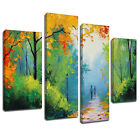 MSC200 Walk in the Park Canvas Wall Art Multi Panel Split Picture Print