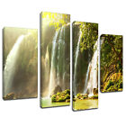 MSC329 Tropical Water Fall Canvas Wall Art Multi Panel Split Picture Print
