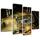 MSC414 Mecca Holy Land Makkah Canvas Wall Art Multi Panel Split Picture Print