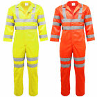 Hi Vis Visibility Reflective Overall Boiler Suit | Coverall | Workwear | Railway