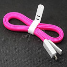 Bright 8 Pin Lightning USB Led Light Cable Charger Flat Cord For iPhone 5 5s
