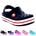Unisex Kids Crocs Crocband Clogs Slip On Beach Mules Lightweight Shoes UK 2-3