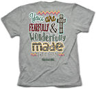 Christian T-Shirt FEARFULLY WONDERFULLY MADE Cherished Girl Kerusso Womens NEW