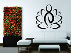 Wall Stickers Vinyl Decal Sport Yoga Lotus Flower Gym Ganesha Breathe People