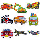Kids TRUCKS PLANES CARS Iron Sew On Patch Badge Applique T Shirt Transfer Craft