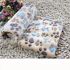 Winter New Pet Dog /Cat Blanket Warm Paw Print Coral velvet Soft Blanket Beds Mat