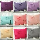 100%Cotton 19 Colors 2* Pillow Cases 48x74cm Decorative Couch Cushion Cover New