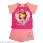 Baby Girls Babies Disney Princess Sofia Short Pyjamas Pink Summer Sophia