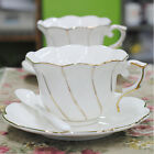 White Fine Bone China Tea Cup Coffee Cup With Saucer Gift 180ml