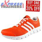 Adidas Mens Breeze Premium Running Workout Trainers Solar Red *AUTHENTIC*