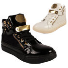 WOMENS LADIES LACE UP SHOES WEDGE FLAT HEEL BOOTS TRAINERS UK SIZE 3 4 5 6 7 8