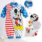 Kids Baby Rompers Newborn Toddler Infant Jumpsuit Mickey Pattern