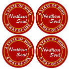 NORTHERN SOUL (STATE OF MIND) - COASTERS - SETS OF 4, 6 OR 8 - GIFT/ EASY CLEAN
