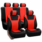 Faux Leather Car Seat Covers Luxury Sports Full Set For Car SUV Minivan
