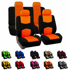 yellow car seat covers - 8 Piece Lowback Flat Cloth Full Set Auto Seat Covers