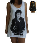 Unisex Michael Jackson Vest Tank Top Singlet Dress Sleeveless T-Shirt