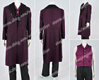 11th doctor female costume - Who Is Doctor Cosplay The 11th Dr Costume Purple Trench Coat Outwear Halloween