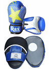 New RAX Curved Focus Pads With Boxing Gloves MMA Kick Boxing Martial Arts Punch