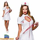 NAUGHTY NURSE UNIFORM OUTFIT WHITE UK 6-24 Womens Ladies Fancy Dress Costume