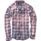 BRANDIT MENS COTTON FLANNEL PARKLAND WIRE SHIRT LONG SLEEVE WORK TOP RED BLUE
