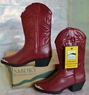 SMOKY MOUNTAIN MESQUITE RED 1033Y YOUTH Big Girl Cowgirl Western Boots Shoes NEW