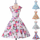 Vintage 1950's Housewife Rockabilly Swing Pinup Cocktail Party Floral Dress PLUS